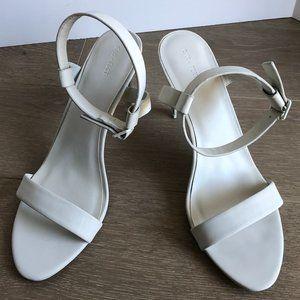 Oak + Fort Strappy Hi Heel Shoes Light Gray Size 9
